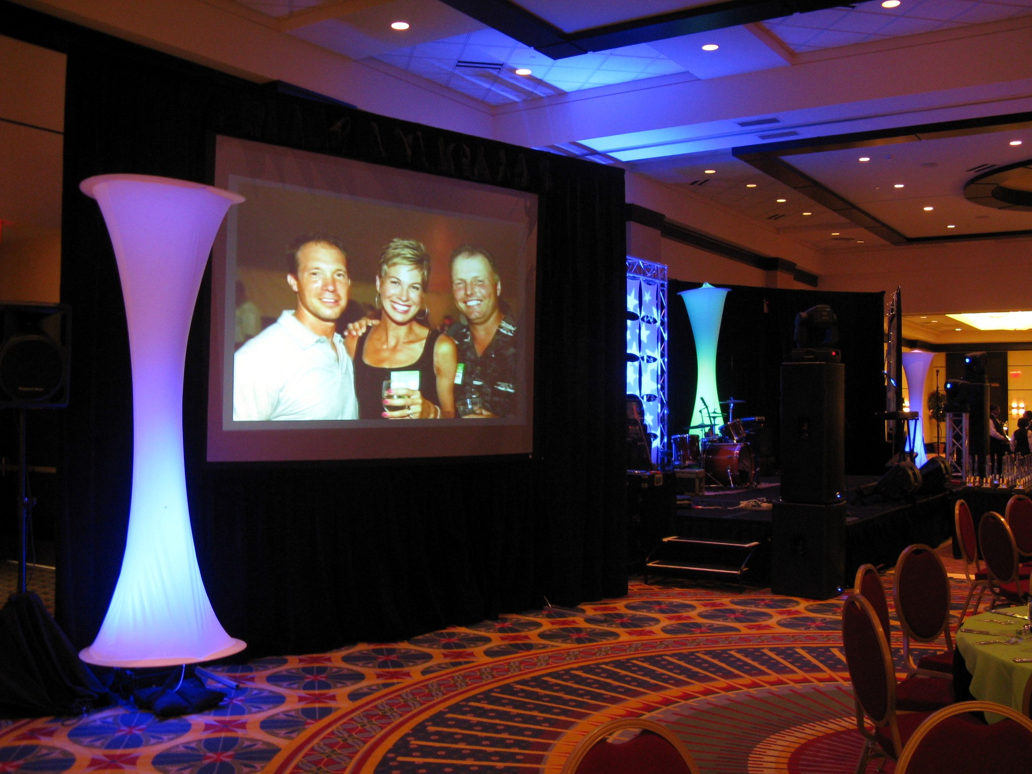wedding video projection